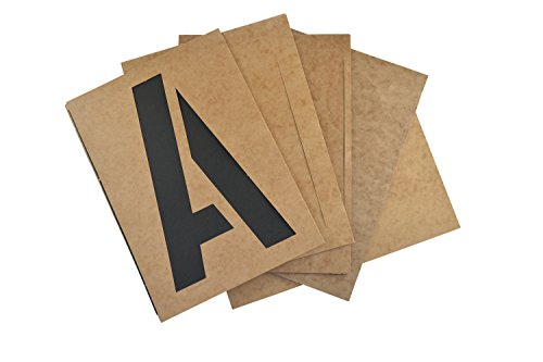 Westcott LetterCraft Oil Board Stencil Kit, 10-Inch Caps (OB-10/15828)