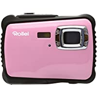 Rollei Sportsline 64 Digital Camera - Waterproof up to 3 m, 9 Shooting modes, 8x Zoom, Adjustable white balance - Pink