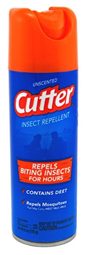 Cutter 51020 Unscented Insect Repellent 10-Percent DEET, 6-O