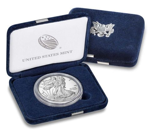 2018 W American Silver Eagle One Ounce Silver $1 Proof US Mint