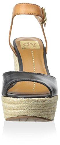 Black By Wedge DV Dolce Women's Leather Sandal Nadiyah Vita vnBnzx