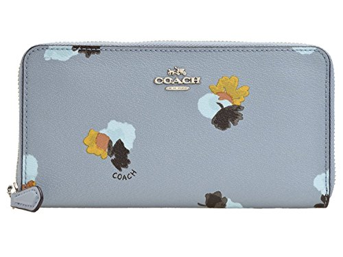 COACH ACCORDION ZIP WALLET IN FIELD FLORA PRINT COATED CANVAS F86859 (Coach Purse Outlet)