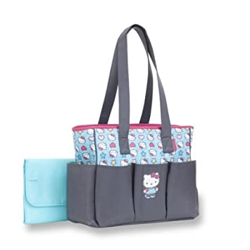 36113f9aa07 Amazon.com   Hello Kitty 6-Pocket Tote Diaper Bag   Baby