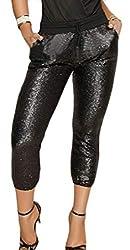 Women's High Waist Sequins Pencil Pants