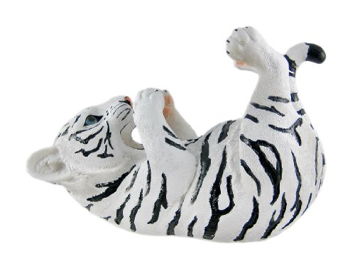 White Tiger Tabletop Wine Bottle Holder Decoration Decor Statue (Tiger Wine Holder Bottle)