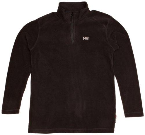 Helly Hansen Girl's Junior Day Breaker 1/2 Zip Shirt, Black, 10