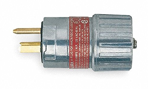 Hubbell 41235 Explosion Proof Straight Blade Plug by Hubbell