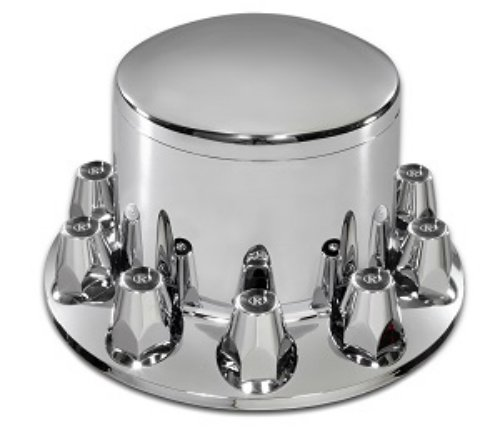 Roadmaster 344P ABS Chrome Rear Wheel Axle Removable Hub Cap and Threaded Nut Covers by Roadmaster