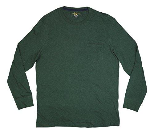 Club Room Long Sleeve Slub Knit Chest Pocket T-Shirt (Large, Isle of (Chest Pocket Cotton T-shirt)