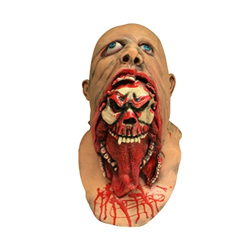TINKSKY Halloween Masquerade Horror Vampire Adult Infected Zombie Mask Scary Costume Party Props Costume Screaming Corpse Head Mask Halloween Costumes