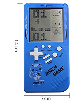 ACHICOO RETR/o Classic Childhood Tetris Handheld Game Players LCD Electronic Games Toys Game Console Riddle Educational Toys 23 Games Version