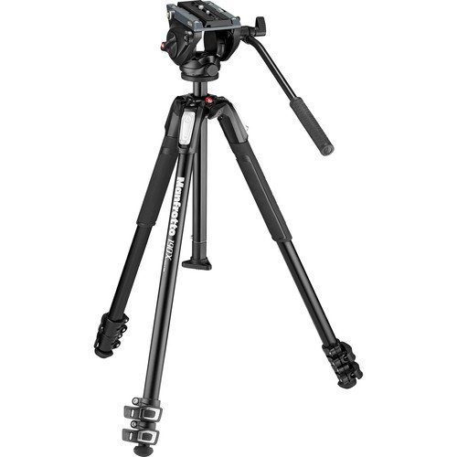 Manfrotto MVK500190X3 Photo Video Hybrid Kit with 500 Series Head, Black by Manfrotto