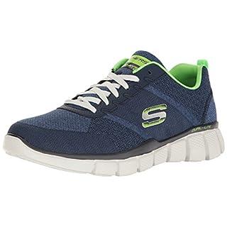 Skechers Sport Men's Equalizer 2.0 True Balance Sneaker,Navy/Lime,6.5 4E US