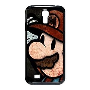 Durable Hard cover Customized TPU case Super Mario Samsung Galaxy S4 9500 Cell Phone Case Black