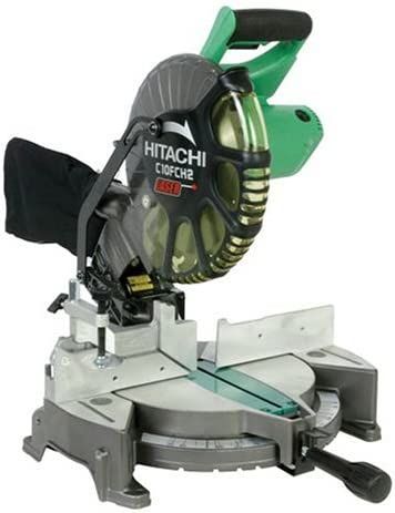 3. Hitachi C10FCH2 15-Amp 10-inch Single Bevel Compound Miter Saw with Laser Marker