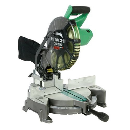 Hitachi C10FCH2 15-Amp 10-inch Single Bevel Compound Miter Saw with Laser Marker (Hitachi 10 Inch Sliding Compound Miter Saw)