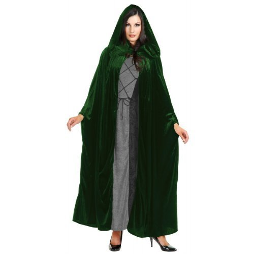 Panne Velvet Hooded Cloak Costume Accessory - One Size - Chest Size 40-44 ()