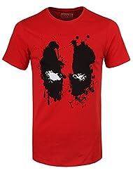 Marvel Deadpool Men's Splash Head T-shirt Red