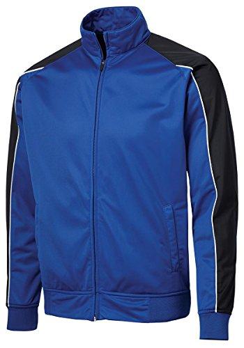 Sport Tek Piped Tricot Track Jacket-2XL (True Royal/Black/White) (Track Jacket Cashmere)