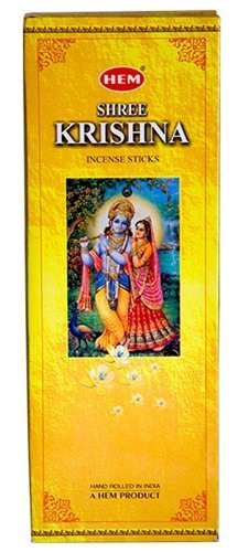 Shree Krishna - Box of Six 20 Gram Tubes (120 Sticks) - HEM Incense