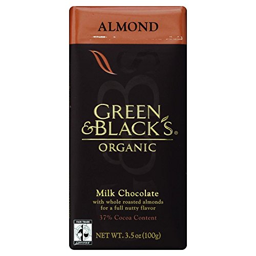 Green and Blacks Organic Chocolate Bars - Milk Chocolate - 37 Percent Cacao - Almond - 3.5 oz Bars - Case of 10-95%+ Organic - (Chocolates Percent 37)