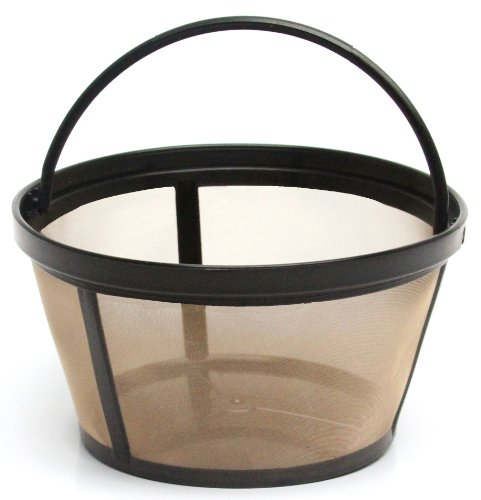 THE ORIGINAL GOLDTONE BRAND Reusable Basket-style 10-12 Cup Coffee Filter with Solid Bottom (Style Coffee Filter Basket)