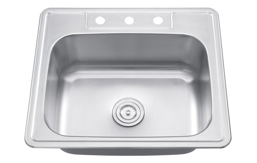 Universe Small single bowl kitchen sink 25' x 22 - 18G