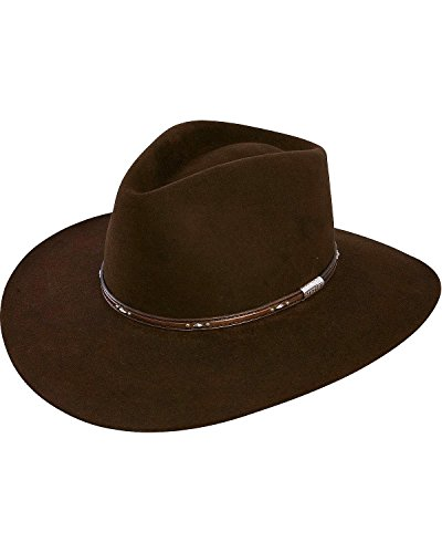 nee Fur Felt Cowboy Hat Chocolate 7 3/8 (Rabbit Felt Hat)