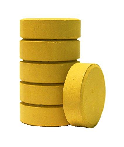 (Jack Richeson 101321 Large Yellow Ochre Tempera Cake 6 Pack)