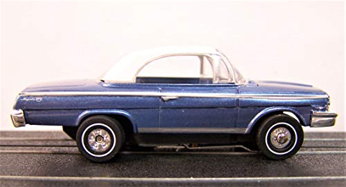 Auto World Blue 1962 Chevy Impala Convertible Ho Scale Slot car