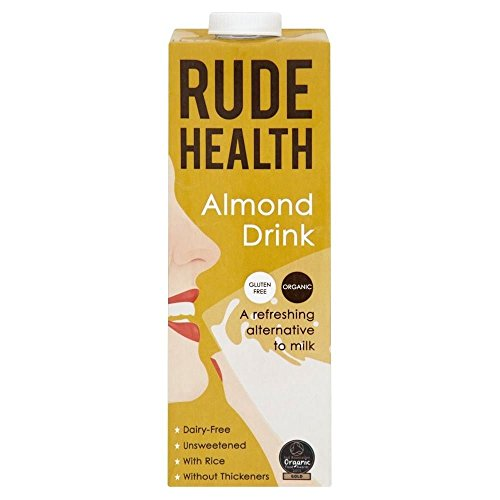 (Rude Health UHT Organic Almond Drink - Unsweetened (1L) - Pack of 2)
