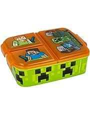 Kinderbroodtrommel / lunchbox / sandwichbox naar keuze: Frozen PJ Masks Spiderman Avengers - Mickey - Paw van kunststof BPA vrij - leuk cadeau voor kinderen (Minecraft)