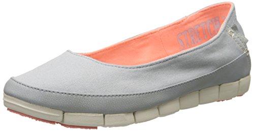 Crocs Women's Stretch Sole Flat Light Grey/Stucco