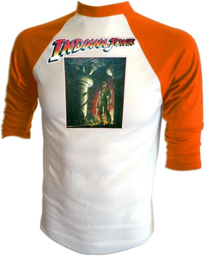 Vintage Indiana Jones Temple of Doom Raiders of Lost Ark Sequel Teaser Poster Print Jersey T-Shirt