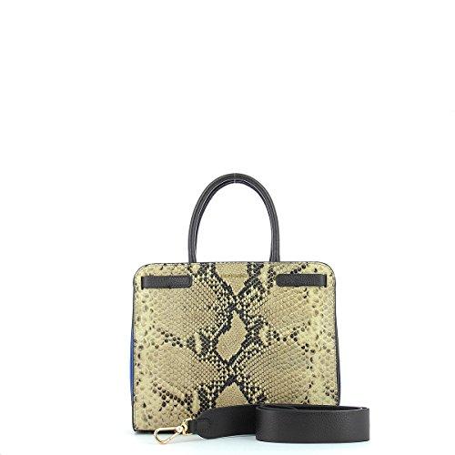 Handbag in leather ROCCIA/TESTA MORO