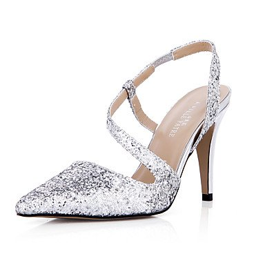 5 Summer Evening CN40 amp;Amp; Dress Stiletto Wedding EU39 Party UK6 Synthetic 5 Silver Women'S Comfort US8 Heel Sandals apgqg5S