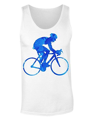 Concentrated Cyclist Riding A Bike T-shirt senza maniche per Donne Shirt