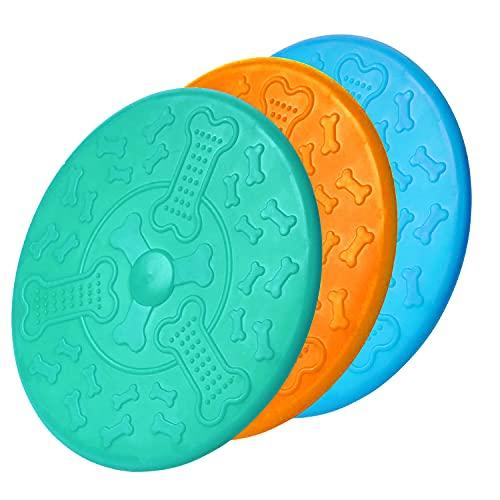 Frisbee,Naturkautschuk Hundefrisbee 18cm Langlebiges Training Hundespielzeug,Perfekt Frisbee Scheibe Spielzeug für Hunde…