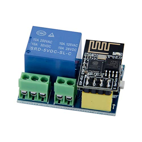 TeOhk ESP 8266 WiFi Relay Module with ESP -01S - Remote Smart Control Switch 5-12V Wireless Transceiver