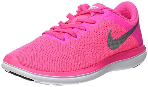 Nike Flex 2016 Rn (Gs), Zapatillas de Running para Mujer Rosa (Pink Blast / Metallic Silver-Black)
