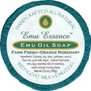 Emu Essence Emu Oil Soap - Farm Fresh Orange Rosemary ()