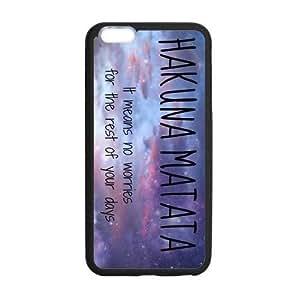 Protective TPU Rubber Coated Case Cover for iPhone 6 Plus - Hakuna Matata