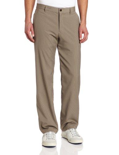 (adidas Golf Men's Tonal Mini Check Pant, Khaki/Willow,)