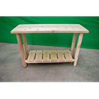 Midwest Log Furniture - White Cedar Log Sofa Table