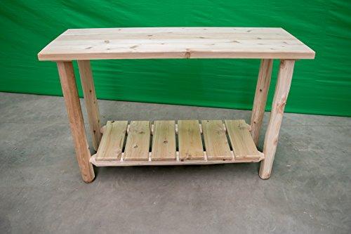 Midwest Log Furniture - White Cedar Log Sofa Table