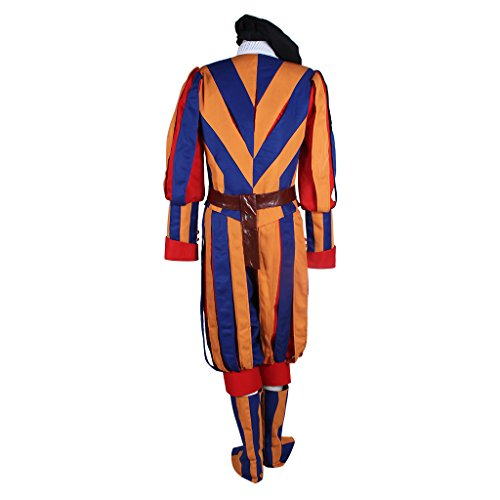 1791's lady Men's Carnival Switzerland Soldiers Swiss Guard Uniform Cosplay Costume L by 1791's lady (Image #3)