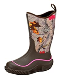 Muck Boots Boys Hale Camo Neoprene Waterproof 5 Youth Brown KBH-HTLF