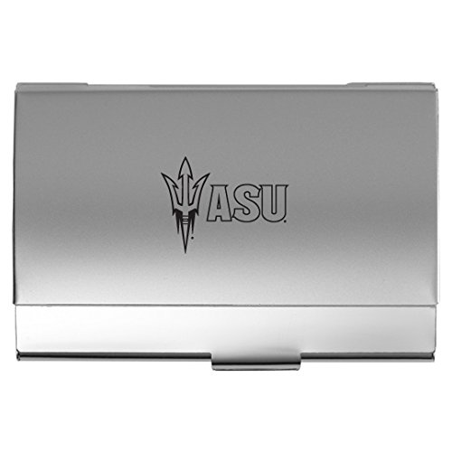 UPC 846911047112, Arizona State University - Two-Tone Business Card Holder - Silver