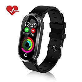 TOP-MAX Fitness Tracker for Women with Blood Pressure Heart Rate Monitor, HR Activity Trackers Smart Bracelet Smartwatch with Step Counter,Calorie Counter, Sleep Monitor for Android