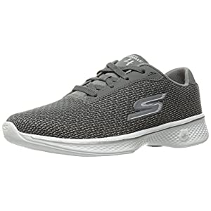 Skechers Performance Women's Go 4-14175w Walking Shoe, Gray, 8.5 W US